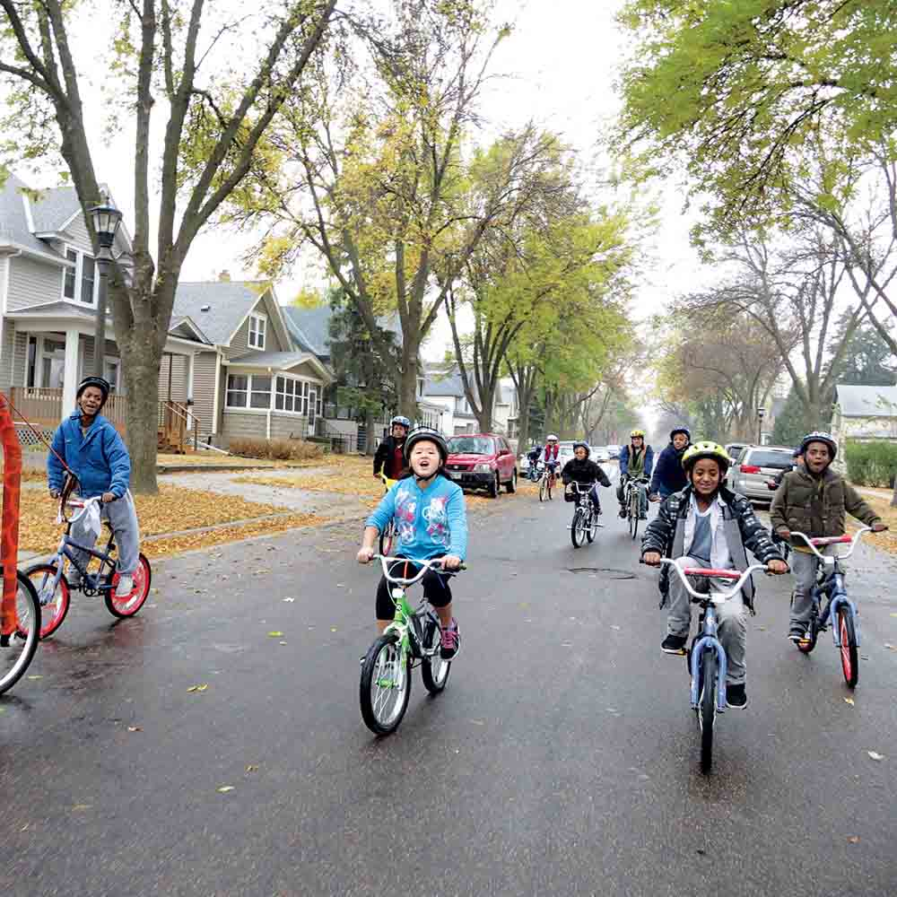 Irrigate's Creative Placemaking brought people in the community together for a variety of activities, such as neighborhood bike rides.