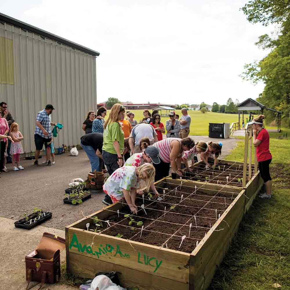 Organizing a community garden is a Healthier Montgomery initiative.