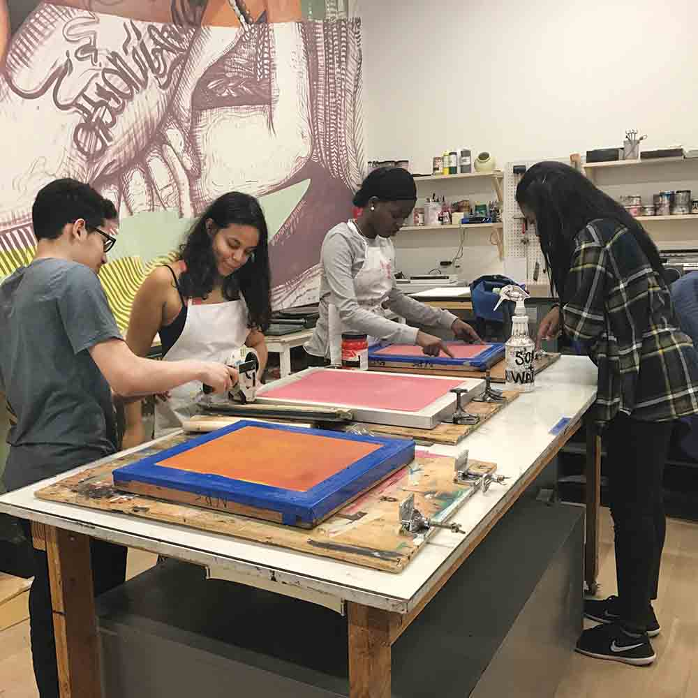 Students engage in creative arts as part of Newark's PAS program.
