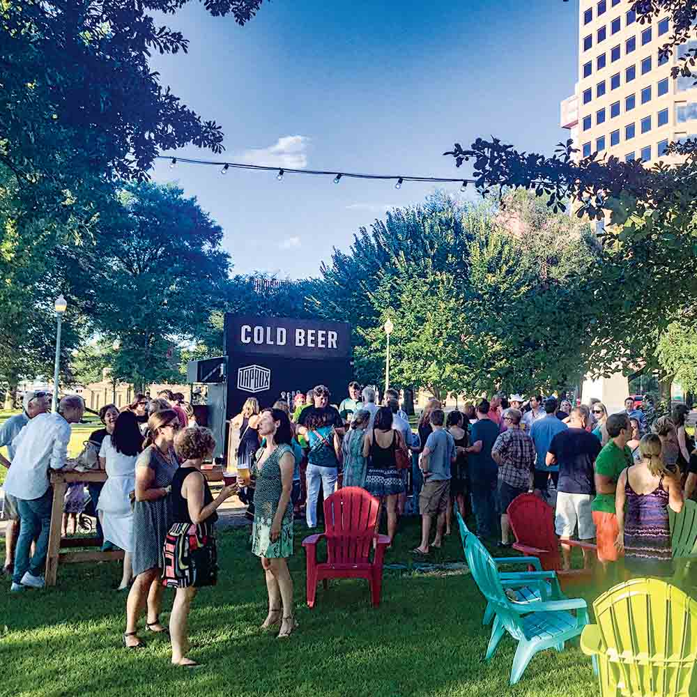 Innovate Memphis Fourth Bluff Fridays present a pop-up beer garden with free music in Memphis Park, a Reimagining the Civic Commons site.